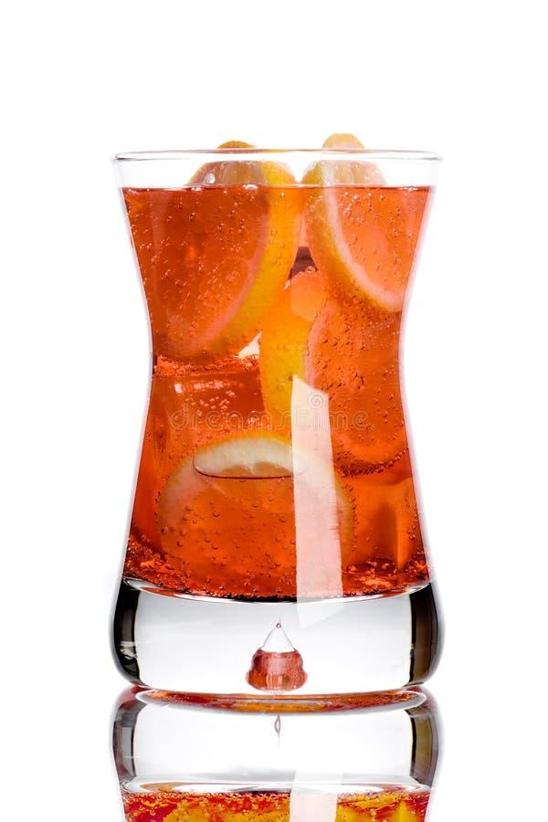 Fresh drink with lemon. Isolated on white background stock photos