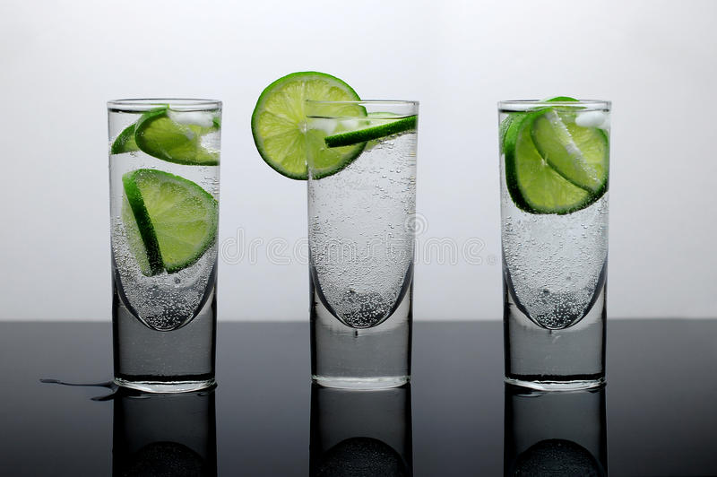 Download Fresh Drink - Water With Lime And Ice Stock Image - Image: 13847219