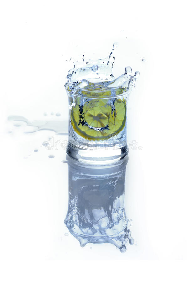 Download Fresh Drink - Water With Lime And Ice Stock Image - Image: 16952875