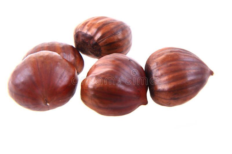 fresh edible chestnuts stock images
