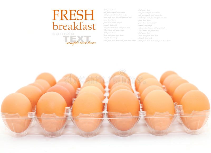 Download Fresh eggs stock image. Image of breakfast, brown, protein - 44160083