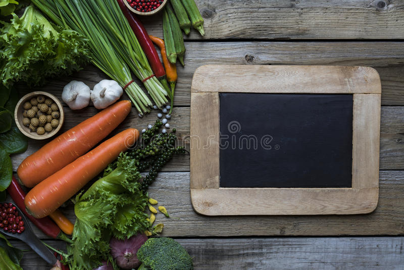 Fresh farmers market fruit and vegetable royalty free stock photos