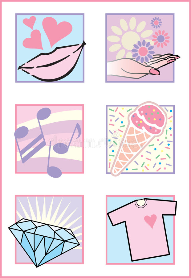 Fresh Feminine Icons/Logos vector illustration