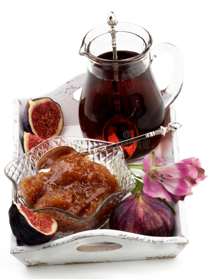 Fresh Fig Jam royalty free stock images