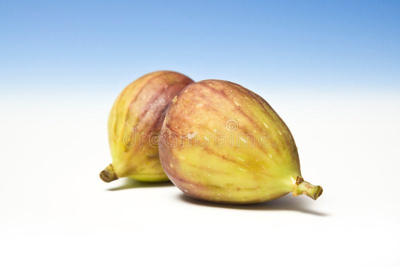Two fresh figs royalty free stock photography