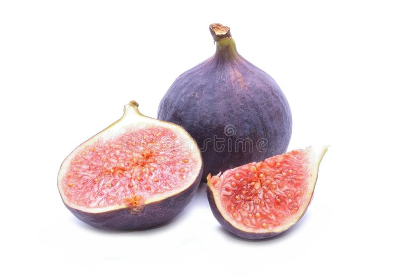 Fresh figs isolated on white background stock images