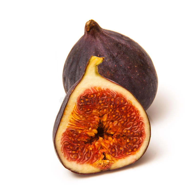 Fresh figs on white royalty free stock photo