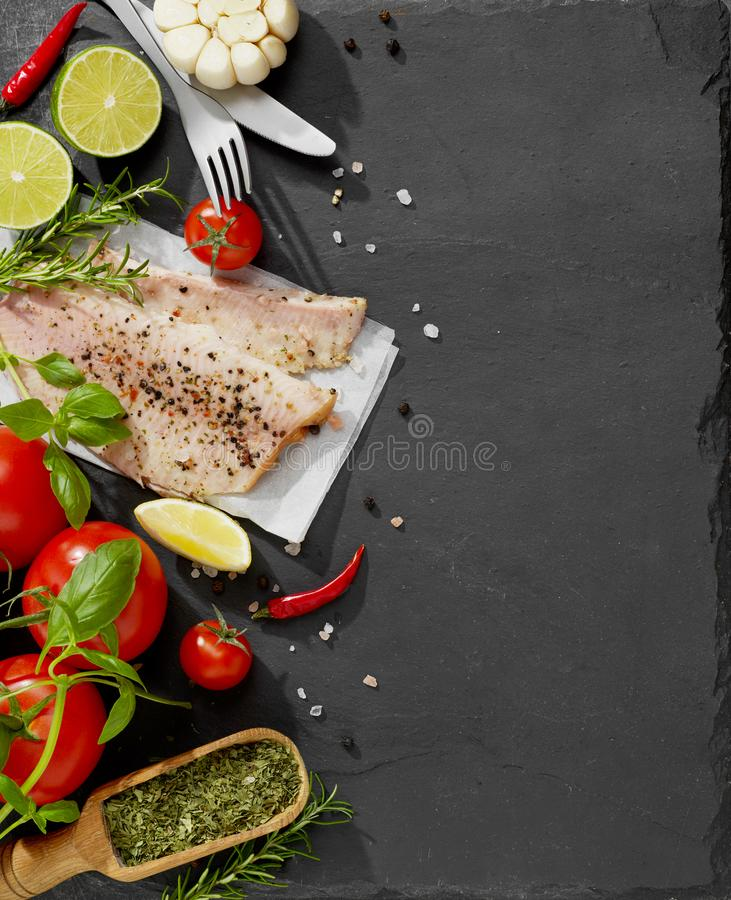 Fresh fish fillet royalty free stock images