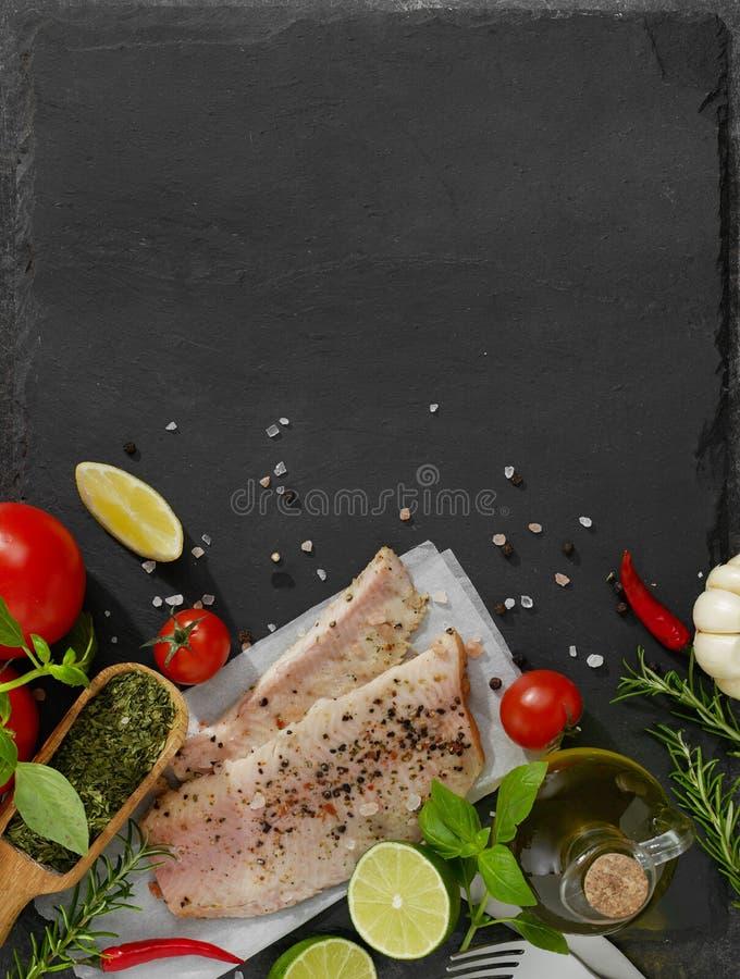 Fresh fish fillet stock photography