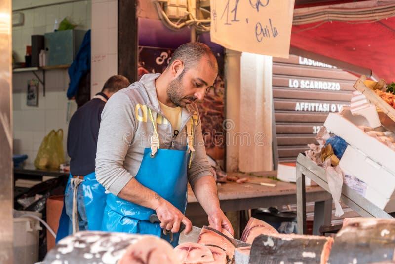 The market of Ballarò in Sicily, Italy royalty free stock photo