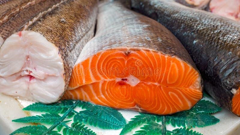 Fresh fish at the market. Close view stock photography