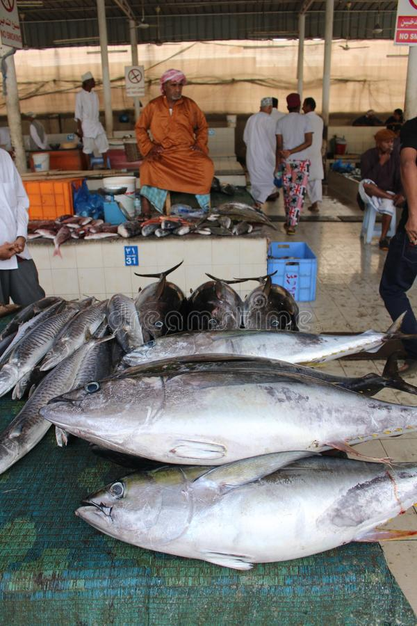 Fresh Fish Await Customers At The Muttrah Market Editorial