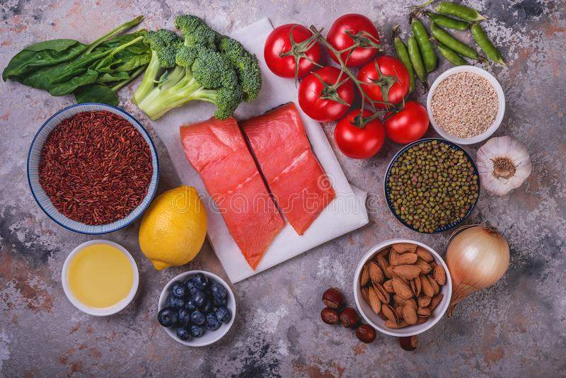 Ingredients for healthy cooking. stock photography