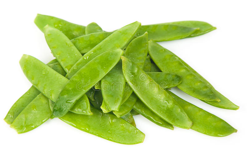 Fresh Flat Green Beans royalty free stock photos