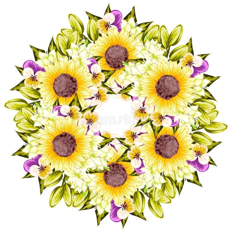 Fresh flower background royalty free illustration