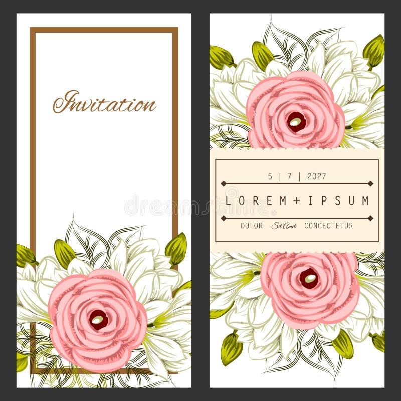 Fresh flower background vector illustration