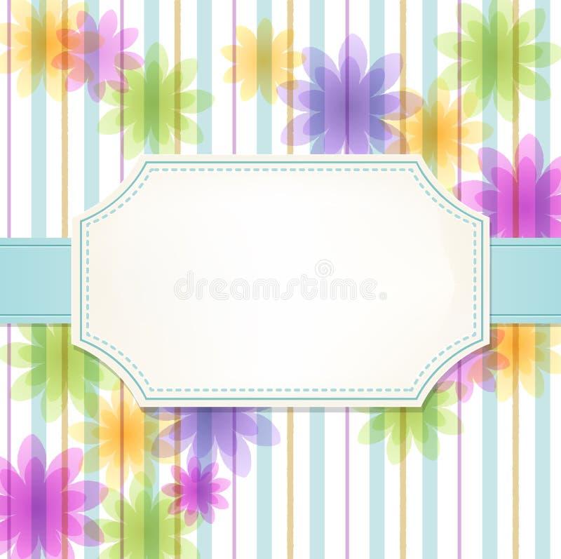 Fresh flower stripe background stock illustration