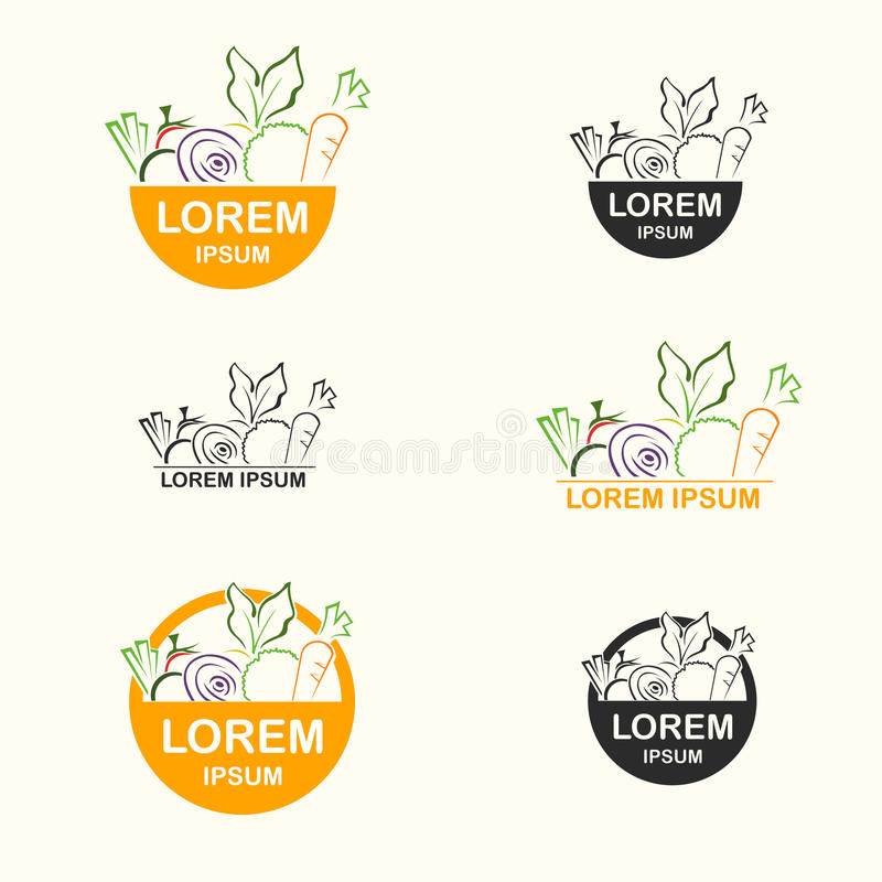 Fresh Food Logo. For organization or business - vector royalty free illustration