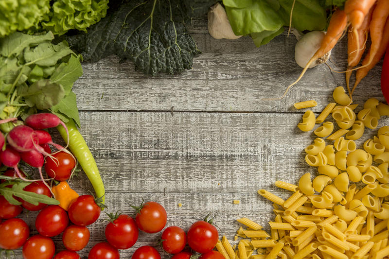 Fresh food on the table. Close up view at fresh food on the table stock photo