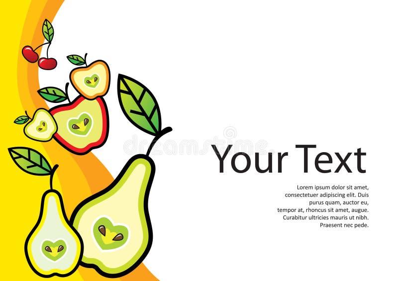 Fresh food template vector illustration