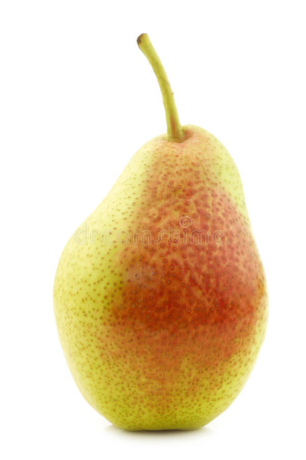 Fresh `Forelle` pear. On a white background royalty free stock images