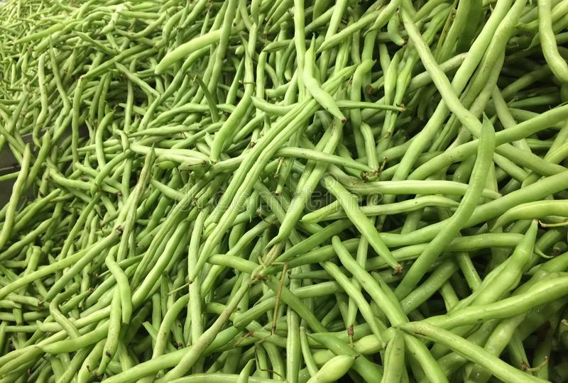 Fresh french bean. Stack of french bean in a fresh mart stock image