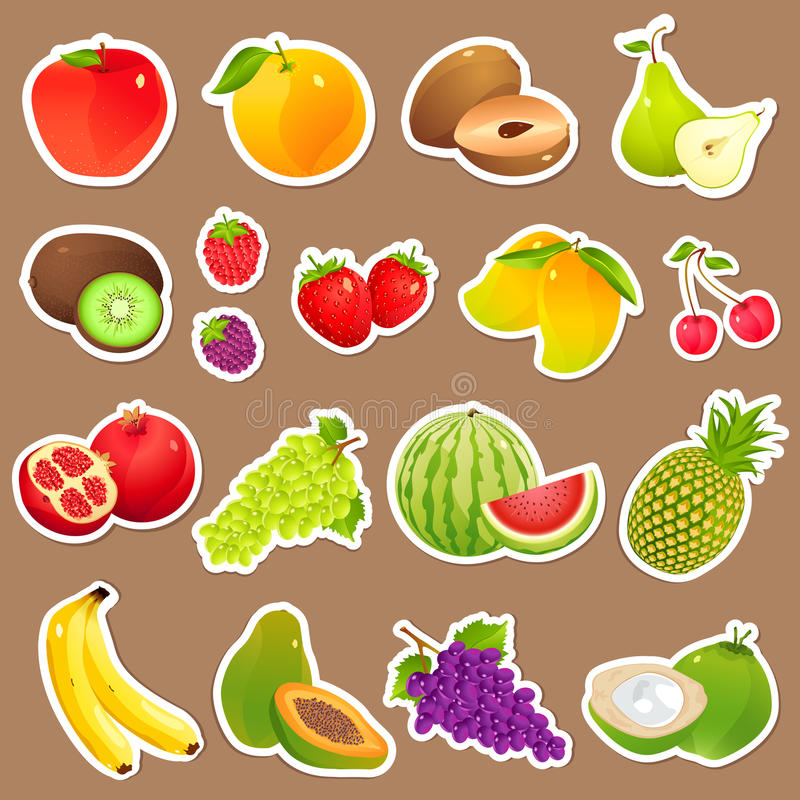 Download Fresh Fruit stock vector. Image of food, health, illustration - 26188122