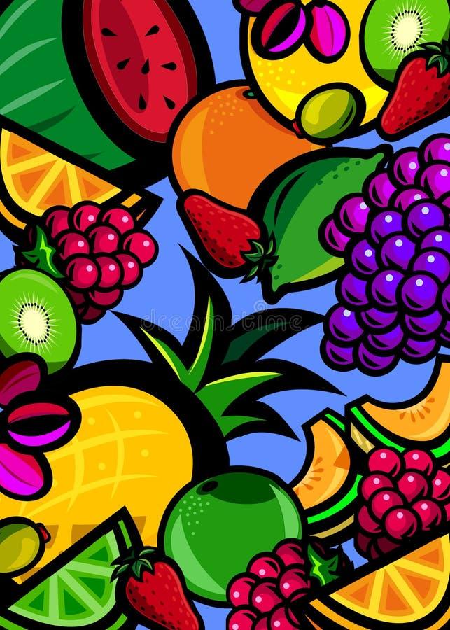 Fresh fruit background stock images