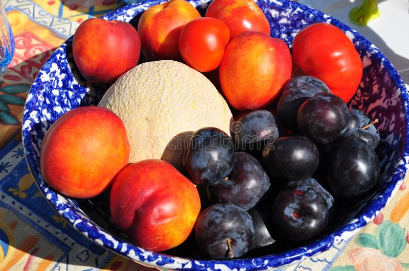 Fresh fruit bowl sweet and healthy royalty free stock photos