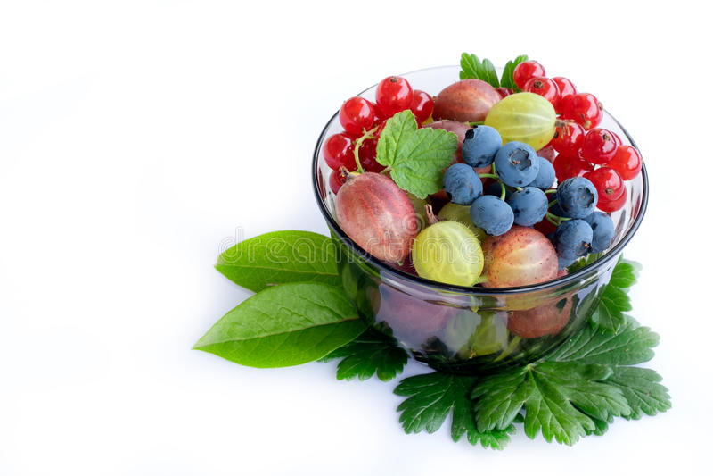 Fresh fruit bowl stock photo