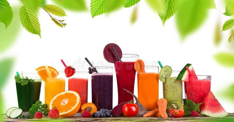 Fresh fruit juice stock photos