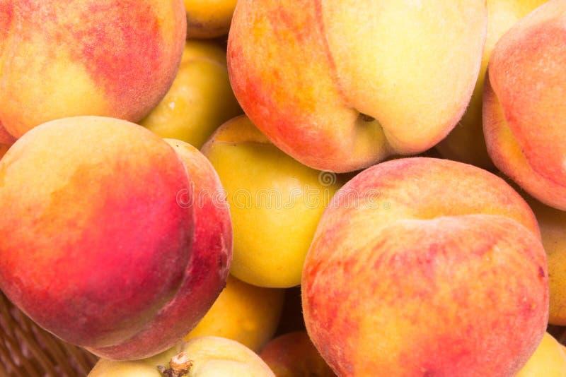 Fresh fruit peach. Ripe fruit fresh peaches, close up photo royalty free stock photo