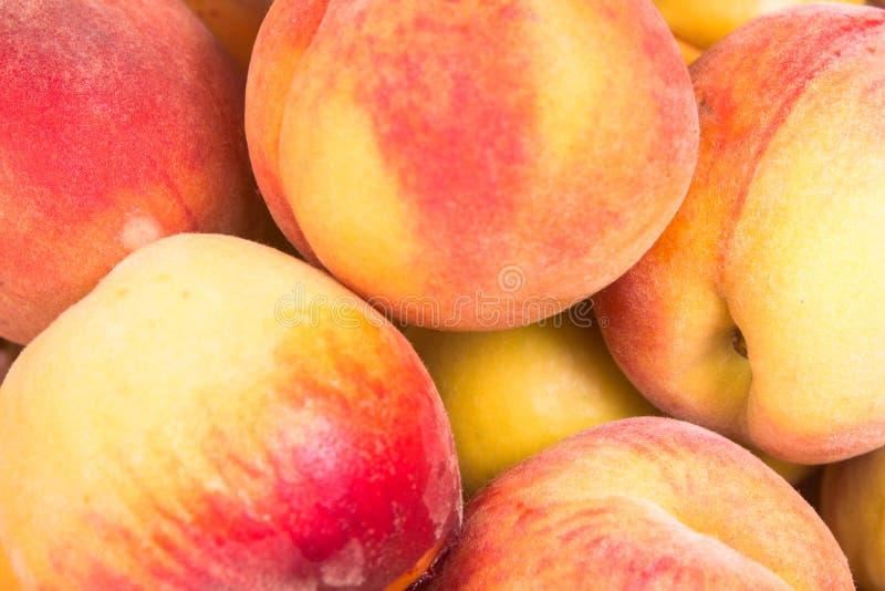 Fresh fruit peach. Ripe fruit fresh peaches, close up photo stock photos