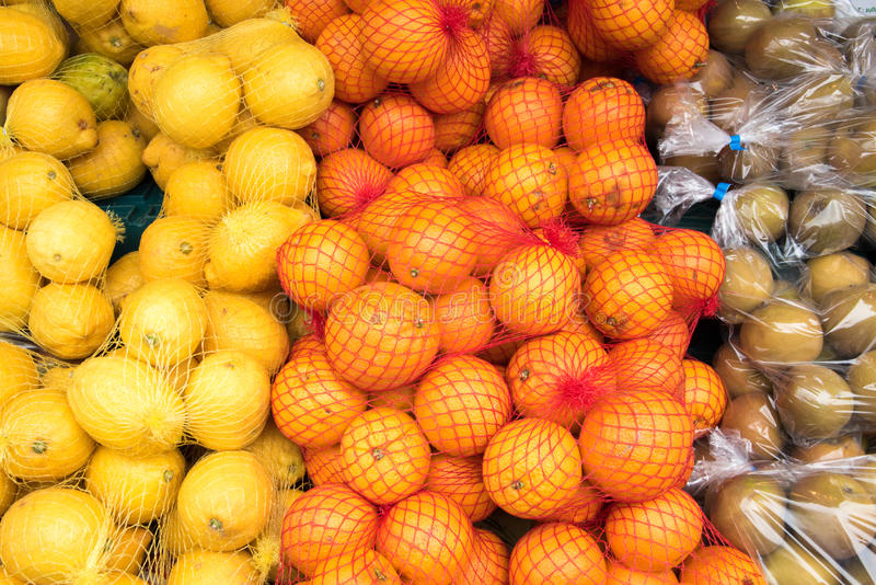 Fresh fruit for Sale. At a local market royalty free stock photography