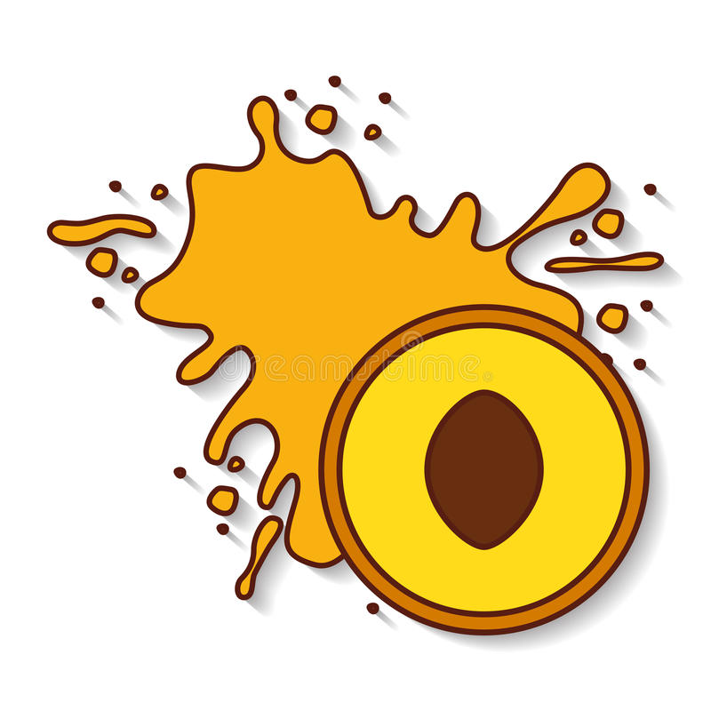 Fresh fruit splash juice. Vector illustration design stock illustration