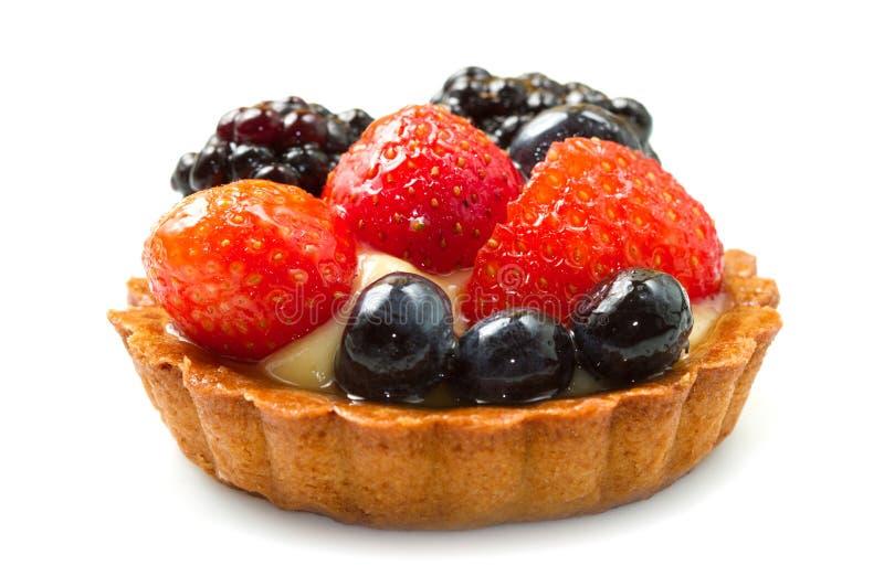 Fresh fruit tart stock photo