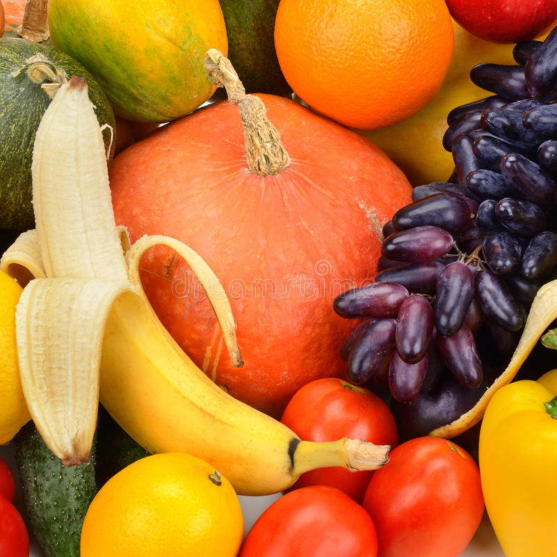 Fresh fruit and vegetable. Collection fresh fruit and vegetable stock images