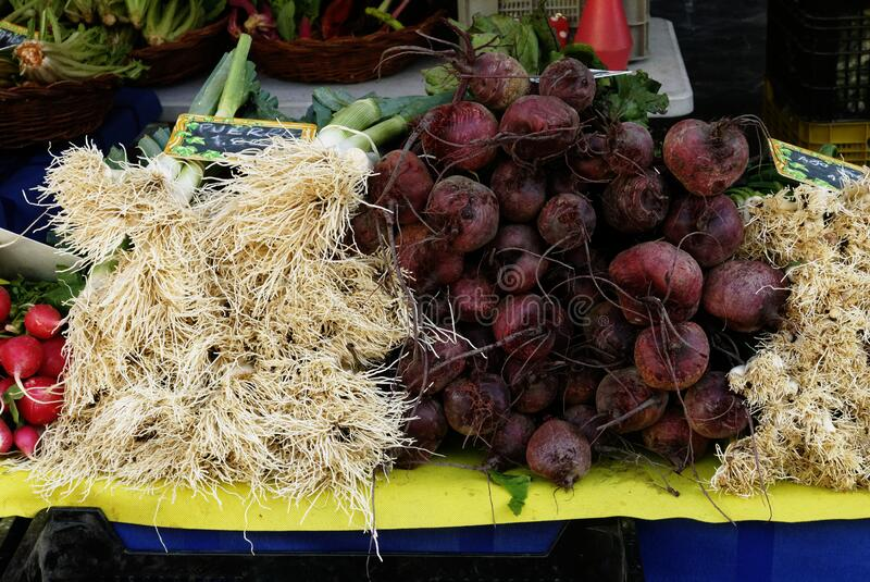 Fresh fruit and vegetable market royalty free stock images
