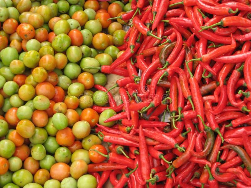 Fresh fruit and vegetables market background stock photos