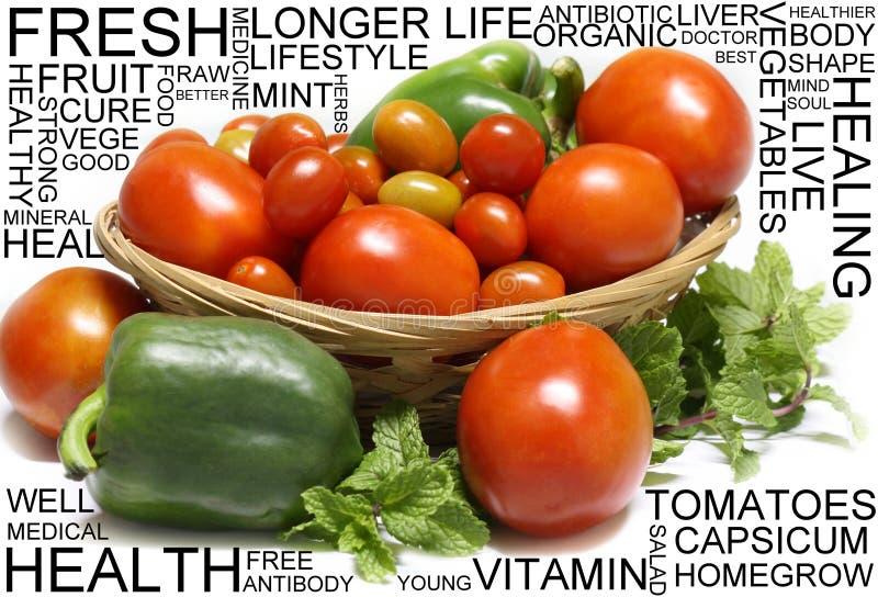 Fresh fruit with wording royalty free stock image
