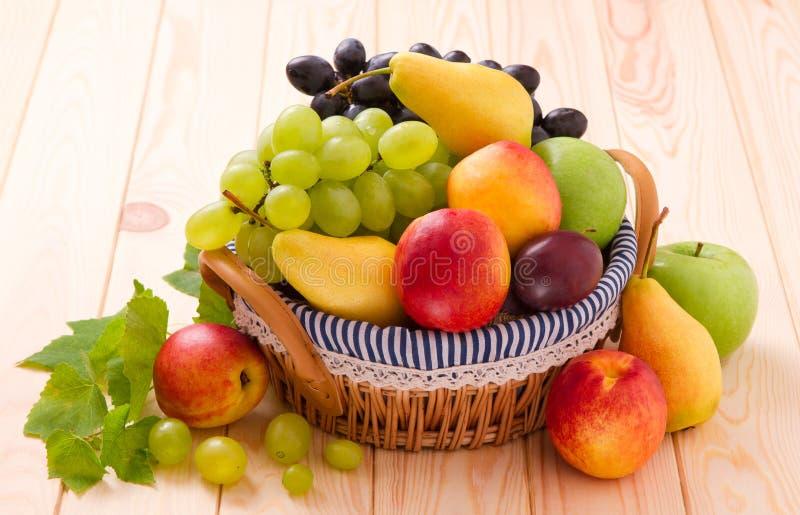 Download Fresh fruits in basket stock photo. Image of juicy, violet - 26589990