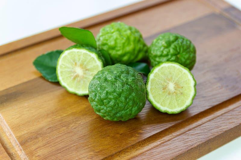 Fresh fruits bergamot with cut in half stock image
