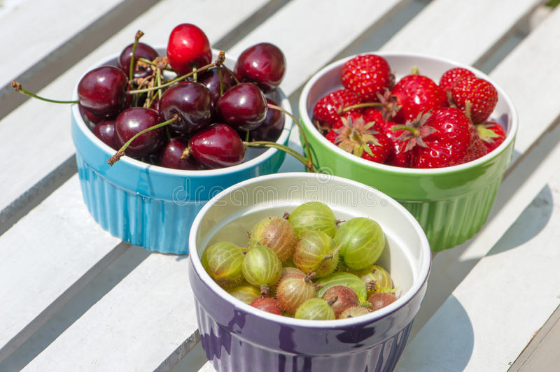 Download Fresh fruits stock photo. Image of outdoors, cherries - 32238496
