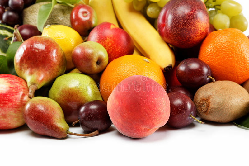 Download Fresh Fruits Isolated On A White Background. Royalty Free Stock Photo - Image: 26541435
