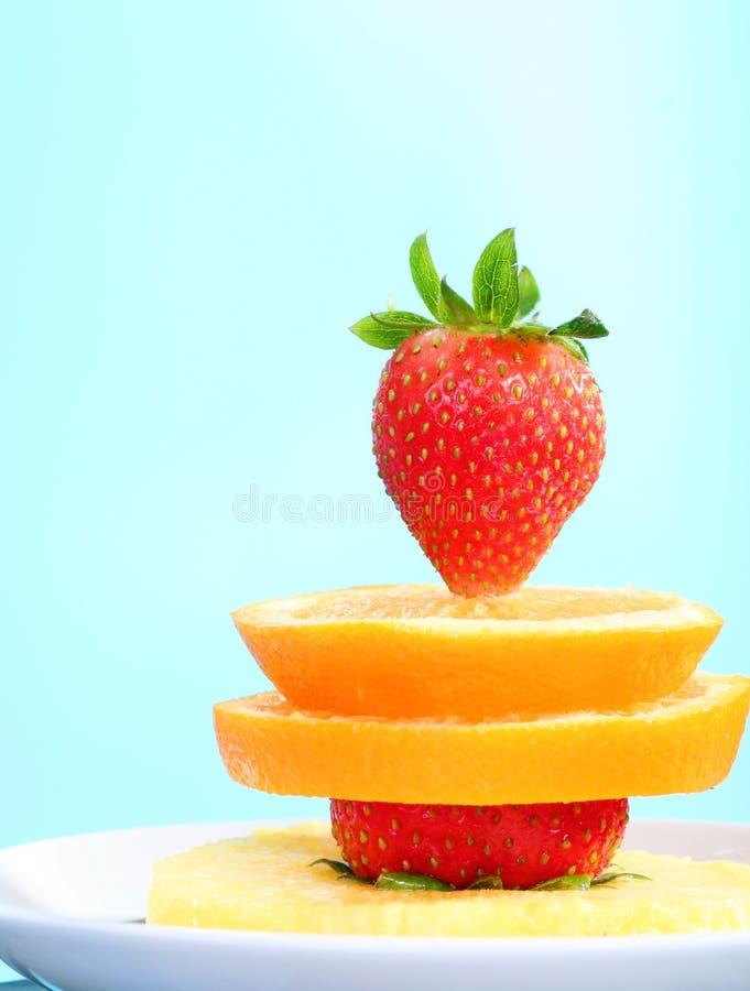 Fresh fruits snack royalty free stock photos