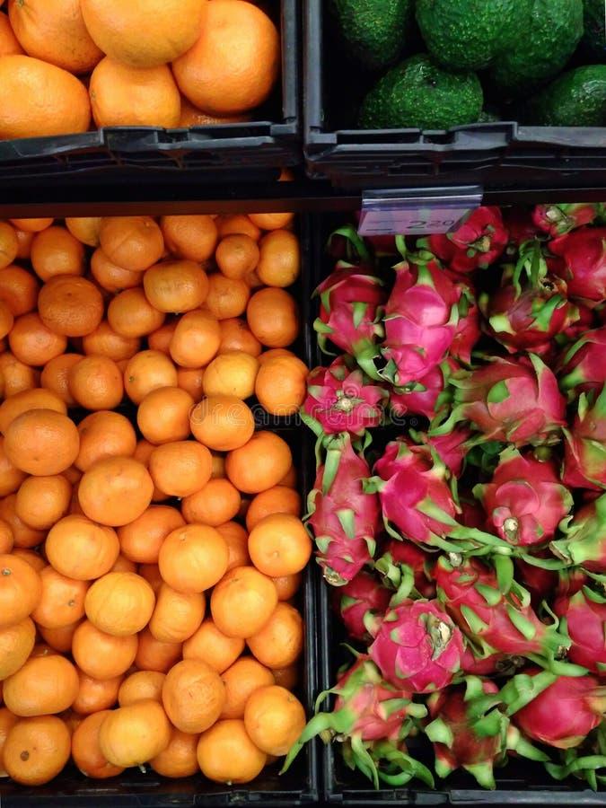 Fresh fruits - supermarket stock photos