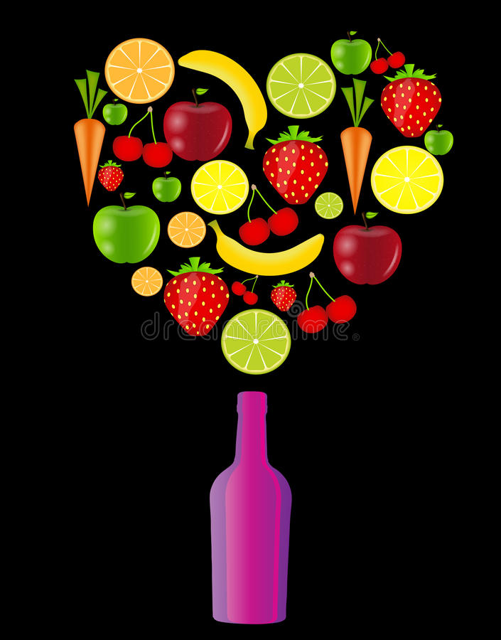 Fresh fruits vector illustration. This is file of EPS10 format stock illustration