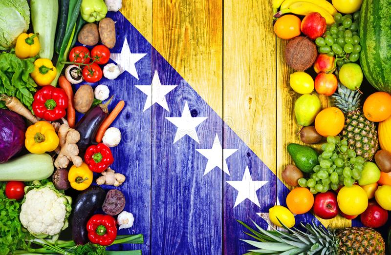 Fresh fruits and vegetables from Bosnia and Herzegovina stock photography