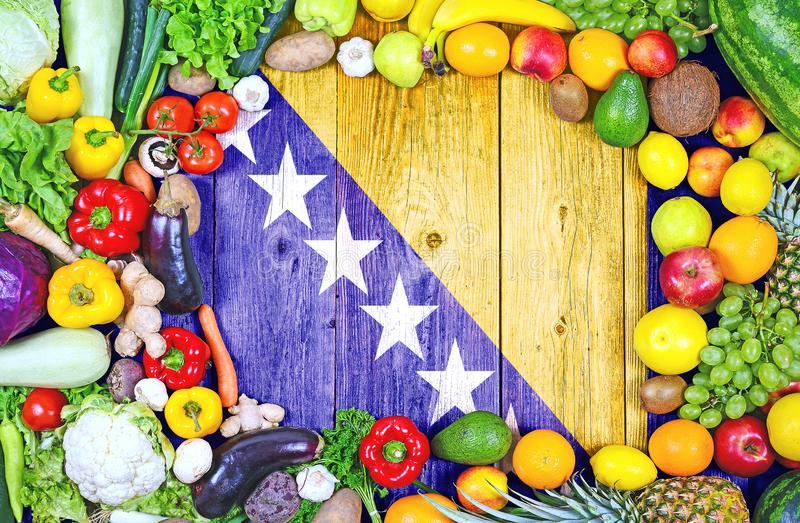 Fresh fruits and vegetables from Bosnia and Herzegovina stock photo
