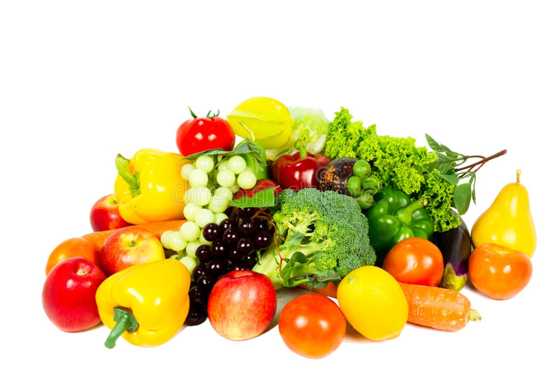 Fresh fruits - vegetables royalty free stock photo